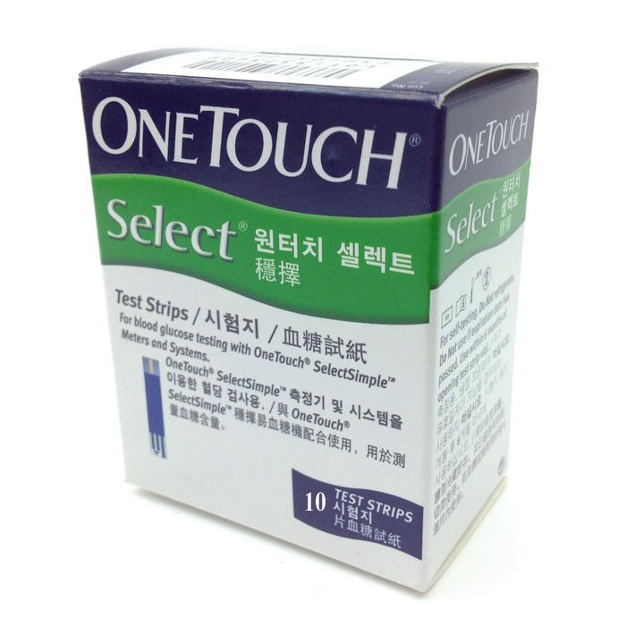 Que thử đường huyết OneTouch Select Simple 10